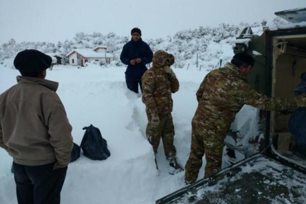 Resultado de imagen para La Patagonia argentina, afectada por fuertes nevadas