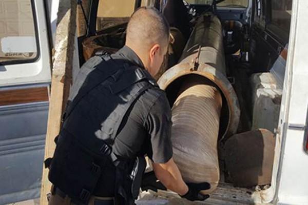 México: encuentran un cañón narco que era usado para lanzar droga a Estados Unidos