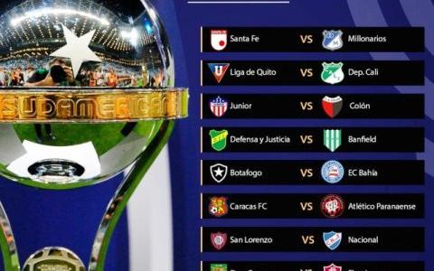 Cruces por los 8vos de final de la Copa Sudamericana