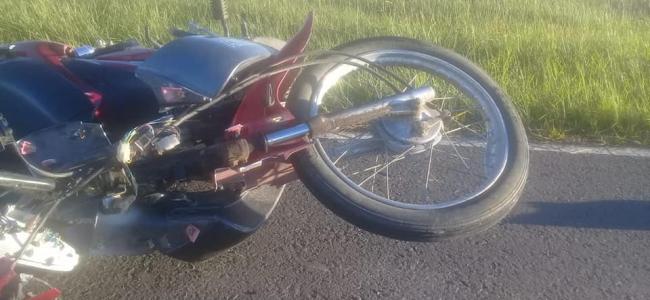Siniestro fatal Ruta 100, Villa Guillermina. Motocicleta colisionó con un animal (