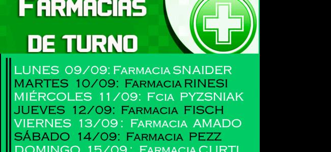 Farmacias de turno en la ciudad