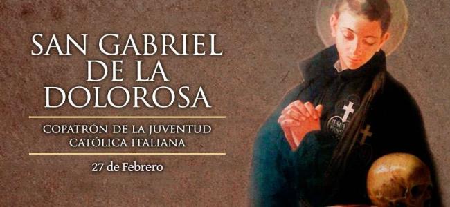 Hoy es la fiesta de San Gabriel de la Dolorosa