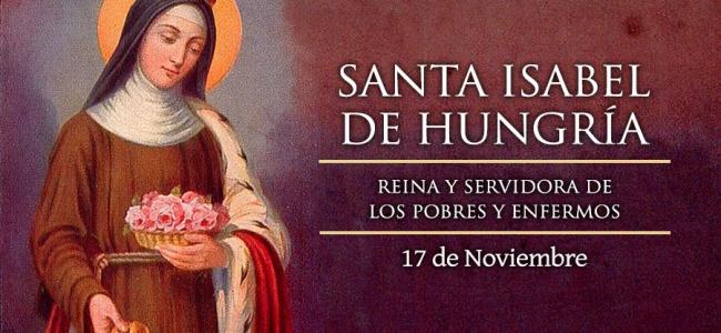 Hoy es fiesta de Santa Isabel de Hungría, la que