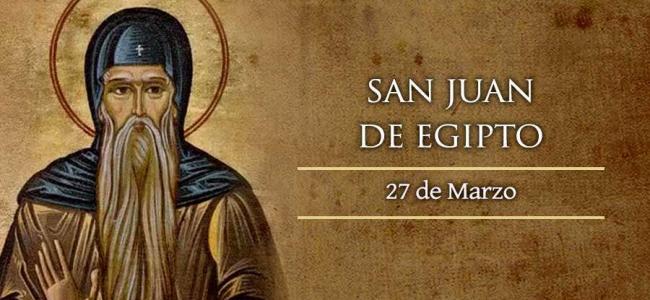 Hoy se conmemora a San Juan de Egipto