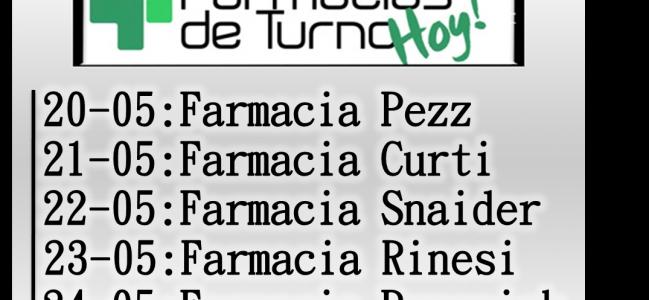 Farmacias de turno Las Toscas