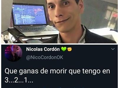 Falleció el periodista tosquense Nicolás Cordón, de 32 años.