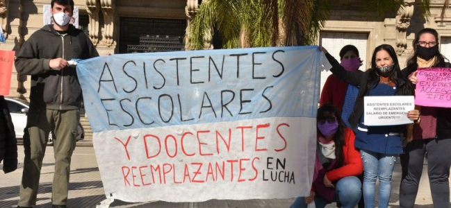 Se estableció un pago de 10 mil pesos para los docentes reemplazantes y asistentes escolares