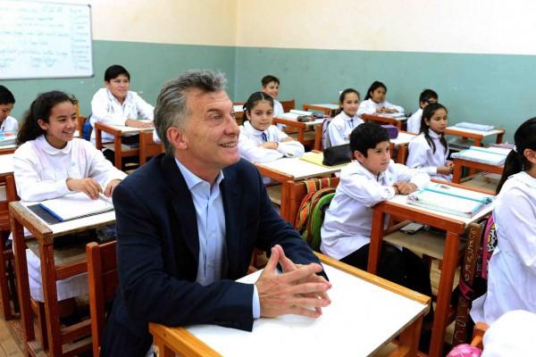 mauricio macri escuelas
