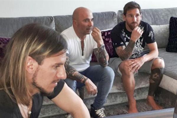 Sampaoli y Messi estuvieron reunidos en Barcelona.