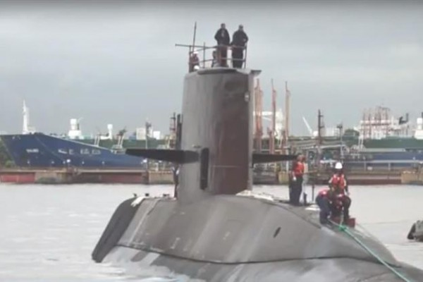 La nave que operaba a la altura de Puerto Madryn no se detecta en los radares (captura de TV)