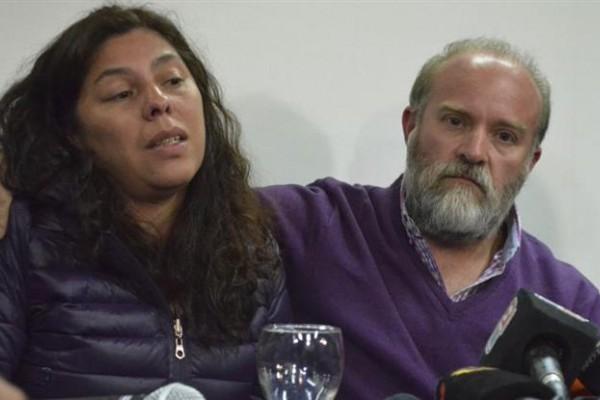 Sergio Maldonado y su esposa Andrea Antico
