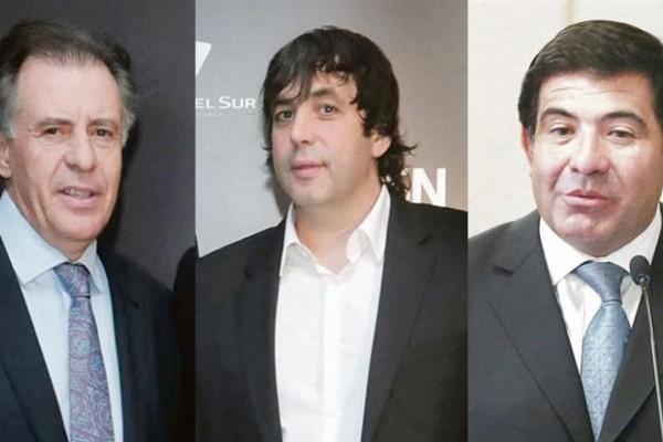 Cristóbal López, Fabián de Sousa y Ricardo Echegaray