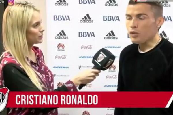Resultado de imagen para Cristiano Ronaldo, nuevo jugador de River: la broma del día de los inocentes que estalló en las redes