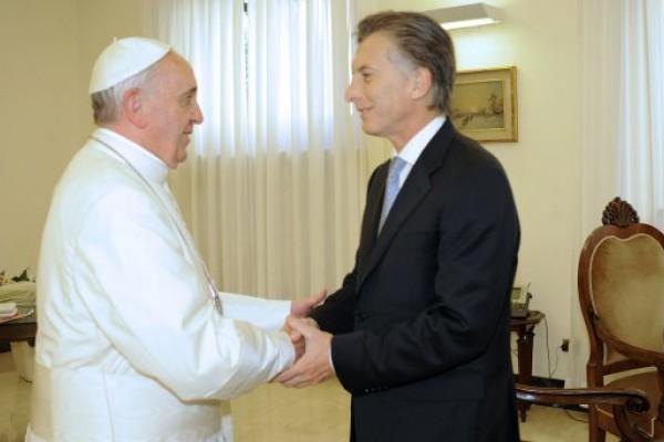 El Papa pidió a Macri por la reconciliación y la fraternidad