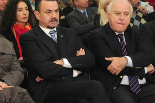 El diputados Rubén Galassi y el gobernador Miguel Lifschitz.